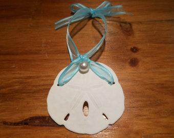 Beach Decor Sand dollar Ornament - Shell Christmas Ornament - Sand Dollar - Beach Wedding - Seashells