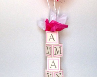 Custom Baby Shower Centerpiece, Alphabet Block Centerpiece, Baby Shower  Decorations
