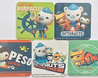 Octonauts Magnets, Octonauts Party Favors, 5 Fridge Magnet Set, Octonauts Disney Junior CBeebies, Octonauts Refrigerator Magnets