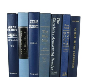 Blue  Country Decor, Rustic Decor with Blue  Decorative Books
