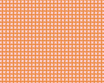 Heather Bailey Up Parasol,  Devin Check in Persimmon PWHB045  100% Quilters Cotton Available in Yards, Half Yards and Fat Quarters