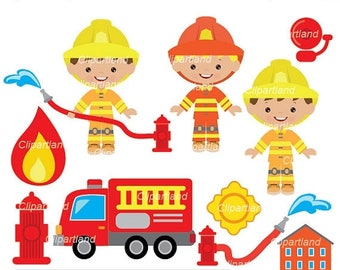 ON SALE INSTANT Download. Firefighter clip art. Cfir_4. Personal and commercial use.