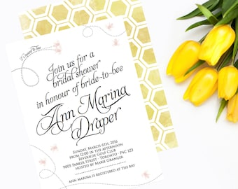 Bridal Shower Invitation - Meant to Bee Bridal Shower, Wedding Shower, Invitations, Invites, meant-to-be