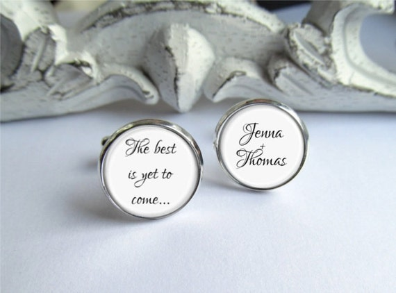 Groom Cufflinks Personalized Groom Gift Wedding Keepsake