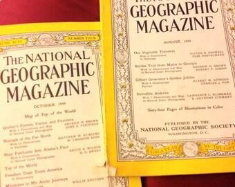 "2 ""The National Geographic Magazine"" 1949"