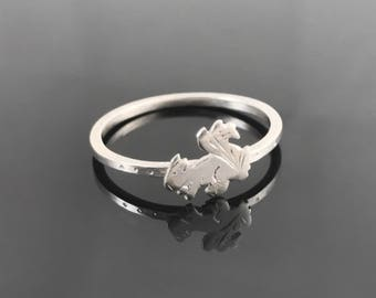 Squirrel ring - Sterling silver squirrel - Squirrel jewelry - Animal ring - Sterling silver animal ring