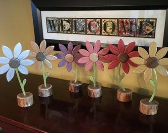 Wooden Flower, Wood Flower, Flower Decor, Art Flower, Carefree Flower, Wood Art Flower, Floral Arrangement, Home Decor, Mother's Day Gift