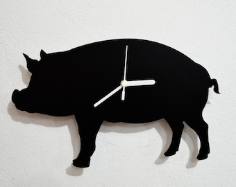Pig Silhouette - Wall Clock
