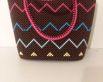 Unique handcrafted beaded purse