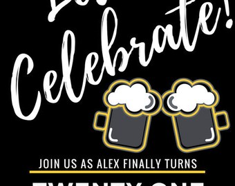 Let's Celebrate - 21st Birthday Invitation