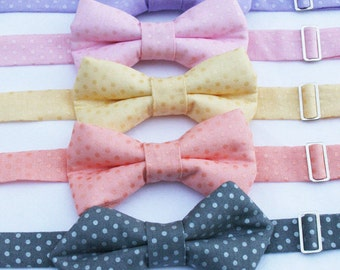 Bow Tie, Boys Bow Tie, Polka Dot Bow Tie, Toddler Lavender Bow Tie, Boys Green Bow tie, Peach Bow Tie, Toddler Bow Tie, Boys  Pink Bow Tie