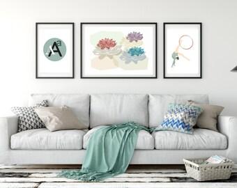 Printable wall art, wall art set of 3, Living room prints, instant download art, home decor print, dining room prints 3 piece art, A3, A4