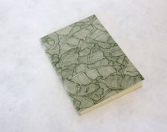 Cream paper foliage A6 size notebook