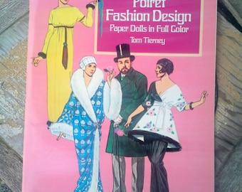 Design de mode Poiret, poupées en papier, livre, Vintage par Tom Tierney, parfait état pour les enfants ou les collectionneurs, modes de Paul Poiret