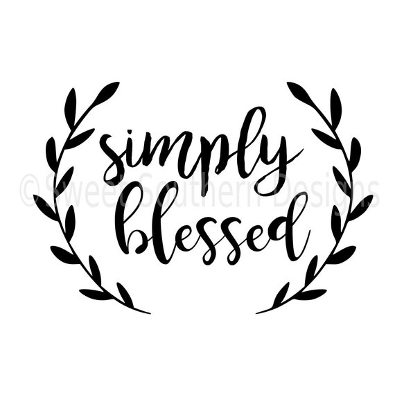 simply blessed svg instant download design for circuit or