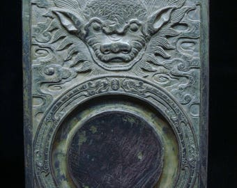 """Fine Antique Chinese """"Duan"""" InkStone  Carving InkSlab Marked """"XuYuanWen"""""""