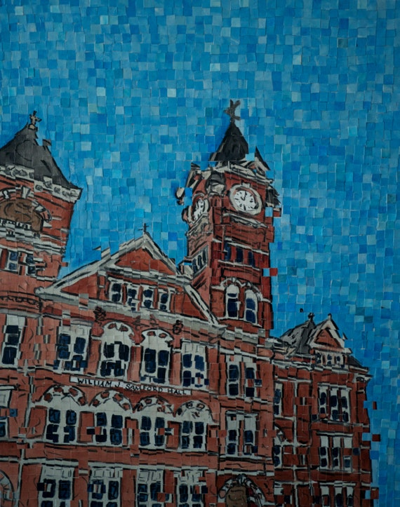 "Auburn University Samford Hall Architectural Art: 24""x30"" Original Painting"