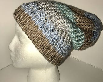 Baby Blue Tweed Knitted Hat