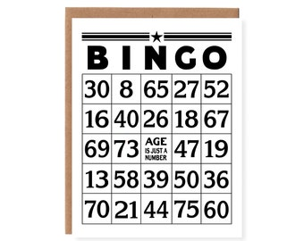 Bingo -- Age is Just a Number Birthday Card