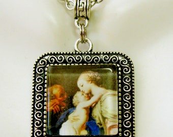 Madonna and child pendant and chain - AP02-032