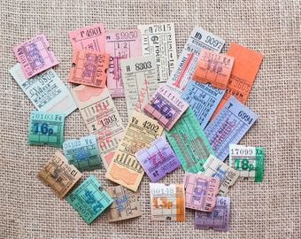 Original vintage English / British bus tickets lot - perfect for Travelers Notebook journaling and scrapbooking -TXL-
