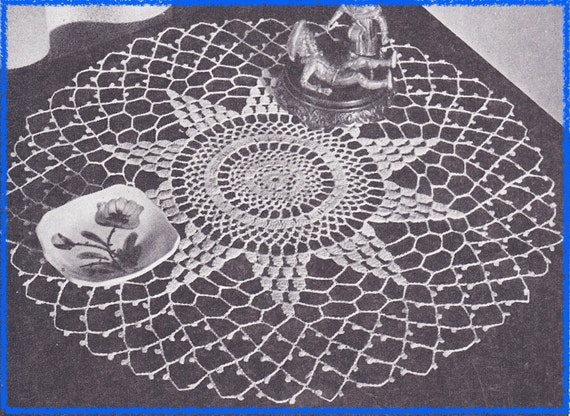 562 Doily Crochet Pattern, Vintage Pattern 14 inches in Diameter ...