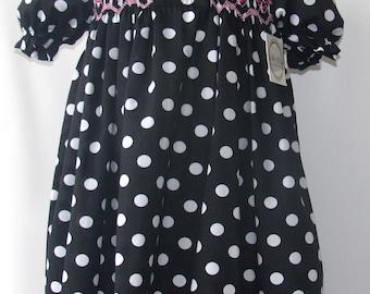 Smocked Monogram dress, Smocked Dress, Personalized Dress, smocked girls dress, Smocked Birthday Dress, Birthday Dress, 4T