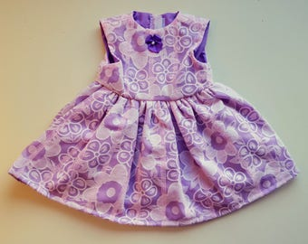 Light Pink and Purple Party Dress for 18 inch dolls like American Girl