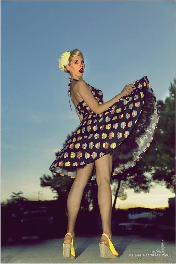 Cupcake Dress Party Dress Pin Up Dress Rockabilly Dress Plus