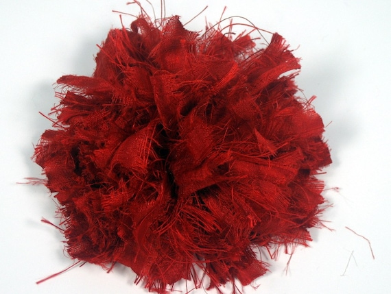 Red silk flower pins red flower pin red silk pins womens like this item mightylinksfo Choice Image