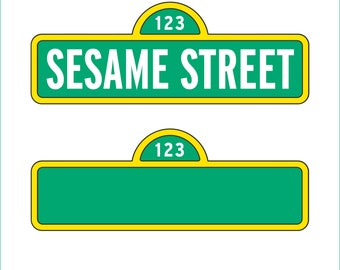 Sesame Street Sign and Blank Sign only - svg, dxf, eps, png, Pdf - Cricut Explorer - Silhouette Cameo