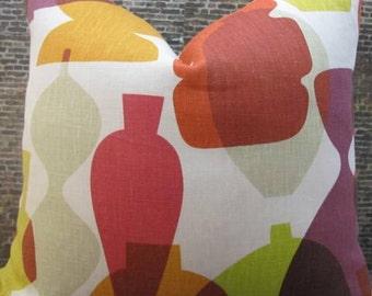 SALE Designer Pillow Cover - Lumbar - Jonathan Adler Vases Multi Color