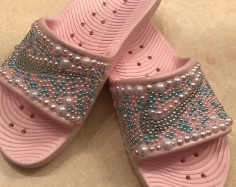 Nike Bling Cotton Candy Slides