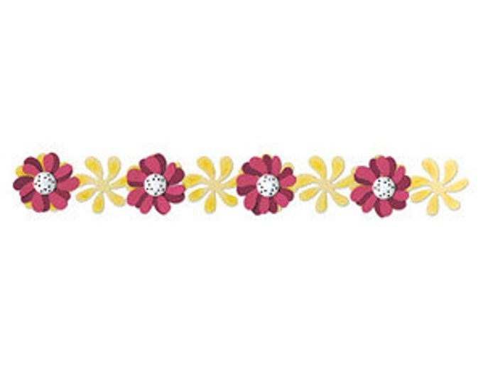 Sizzix Sizzlits Decorative Strip Die - Windmill Daisies by Scrappy Cat 657105