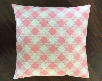 Pink Gingham-pillow cover