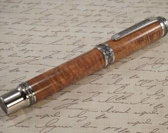 Executive Desk Rollerball Pen Curly Koa Wood Boxed 1827