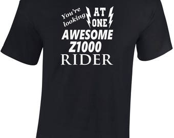 Awesome Z1000 Rider  T shirt  Funny Ideal Gift Biker personalised