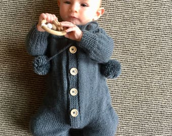 Baby Suit/Baby Onesie (Hand Knitted)