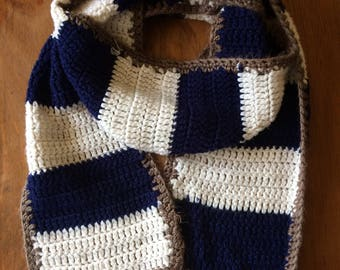 Handmade Crochet Nautical Stripe Scarf