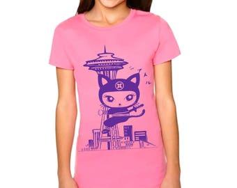 Kid Seattle Kitty Ninja  T shirts