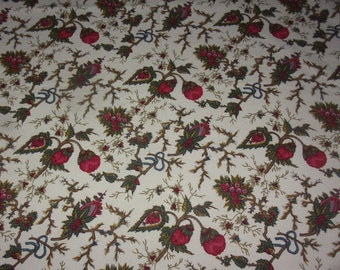 Vintage fabric pretty chintz flowers