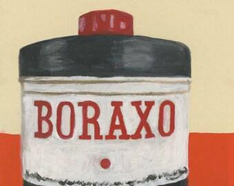 Boraxo. Original mixed media painting by Vivienne Strauss.