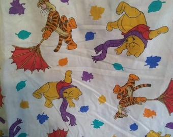 Disney Winnie the Pooh Blustery Day Autumn Twin Fitted Sheet