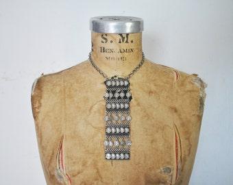 1960's Coin Necklace / BOLD silver pendant