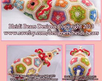 Nellie the Elephant African Flower Crochet pattern
