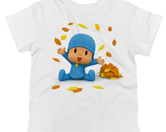 Pocoyo Playing In Leaves Toddler 100% Cotton T-shirt