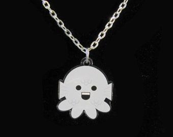 Western Zodiac Pisces Octopus Necklace