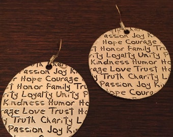 Round Faith Earrings