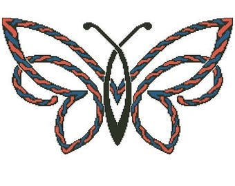 Celtic Rope Butterfly Cross Stitch Chart