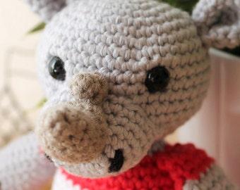 Rhino - Animalius. Amigurumi Pattern PDF, Animal Toy, Nursery Doll, Africa Crochet Pattern, Cute Children Gift, DIY, Crafts, Digital File
